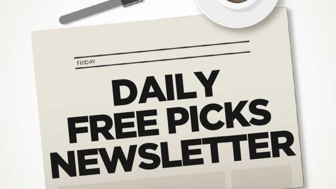 Free Picks Newsletter sign up gets you free picks every day